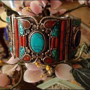 antique Jewelry - Antique multi stone bracelet