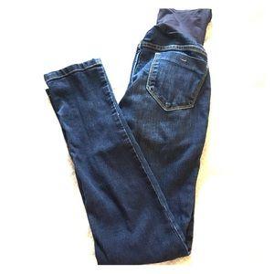 Skinny maternity jeans. So comfortable!