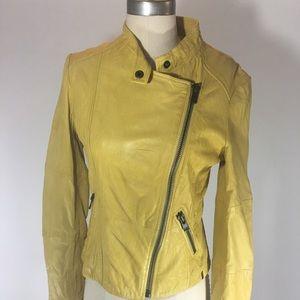 Ikks Jackets & Blazers - IKKS Leather Bomber Jacket