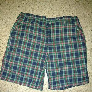 Plaid sports shorts, golf mens 42