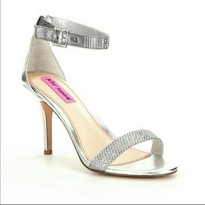 Betsy Johnson Shoes - NWT Betsy Johnson Silver Broadway Heels