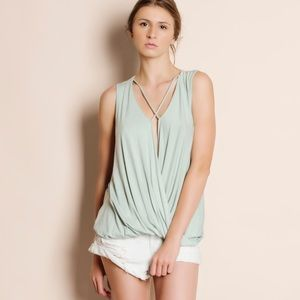 Mint Sleeveless Tank Top