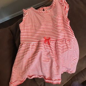 Other - Red stripped dress with matching bloomers