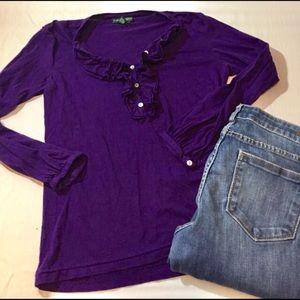 Lauren Ralph Lauren Tops - Lauren jeans company tuxedo long sleeve tee