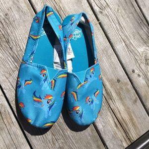 Bioworld Shoes - My Little Pony Adult Slip-ons Size Medium NWOT