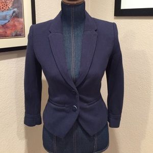 H&M polka dot lined blazer jacket