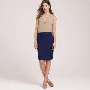 J. Crew Dresses & Skirts - J. Crew navy eyelet pencil skirt