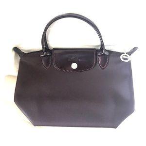 Longchamp Handbags - Authentic mini  dark maroon Longchamp bag