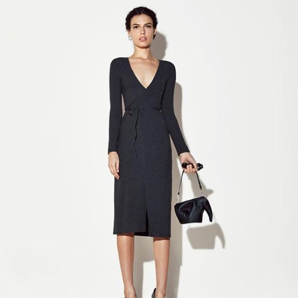 7f96d9af8e2 Reformation Cyan wrap dress