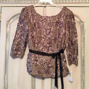 Alex Evenings Tops - NWT Alex Evenings Champagne Blouse