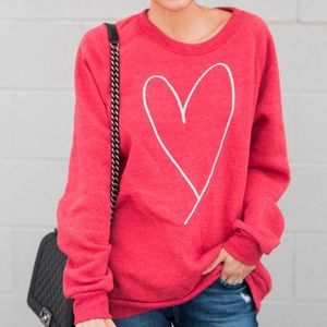 eece2e96cc Ily Couture Tops - Bright Red Heart Sweatshirt