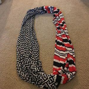 Mud Pie Accessories - Red, Black, & White infinity scarf