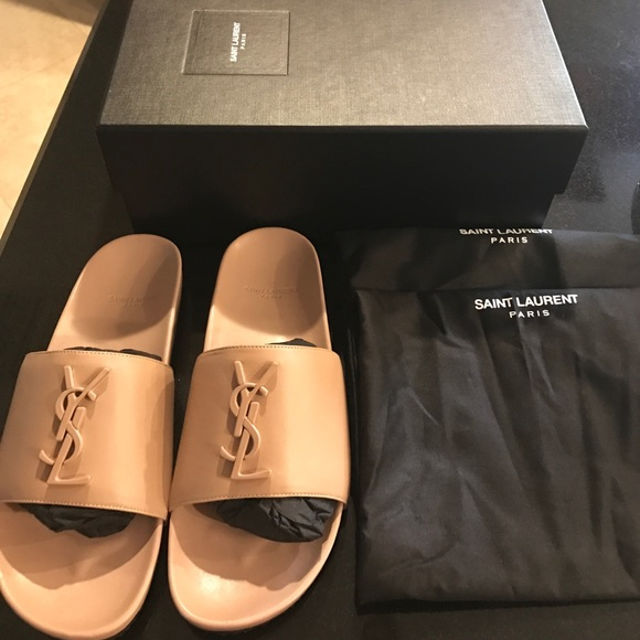 Shoes   Ysl Nude Slide Sold Out   Poshmark