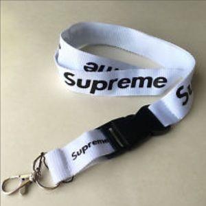 Supreme Accessories - White Supreme Lanyard