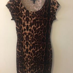 Leopard print fitted dress, forever 21