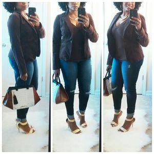 Calvin Klein Jackets & Blazers - 💎NEW Calvin Klein Brown Corduroy Stretch Blazer