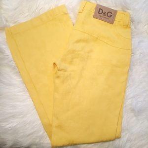 D&G Denim - D&G Dolce & Gabbana yellow brocade jeans 26 x 30