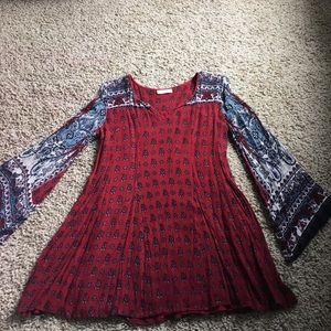 Red & Blue Boho Dress