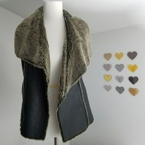 My Tribe Jackets & Blazers - My Tribe Leather Vest with faux fur small