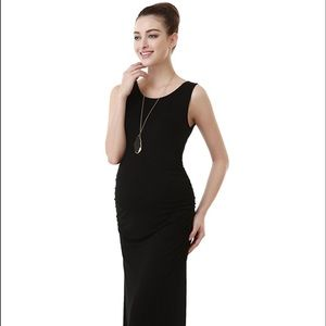 Momo Maternity Dresses & Skirts - Momo Maternity Black Maxi Dress Size M