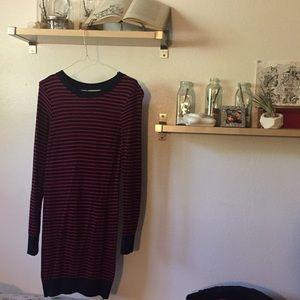 Bodycon Striped Sweater Dress🌉