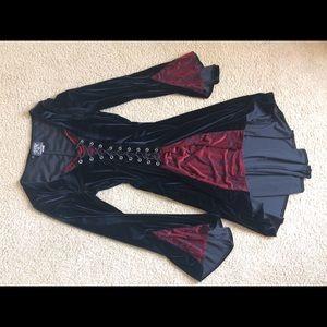 Shrine Dresses & Skirts - 🌙Shrine Velvet Dress🌙 Red Brocade size small