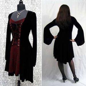 Shrine Dresses & Skirts - 🌙Shrine Velvet Dress🌙 Red Brocade