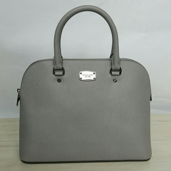 d5bc9da8b Michael Kors Bags | Cindy Large Dome Satchel Grey Bag Mk | Poshmark