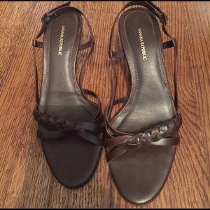 Banana Republic Leather braided sandals