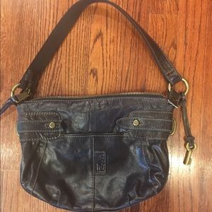 Vintage FOSSIL Handbag PURSE with KEY needs repair