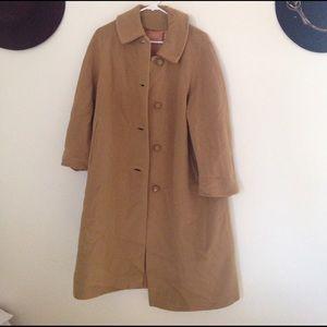 Vintage oversized tan overcoat