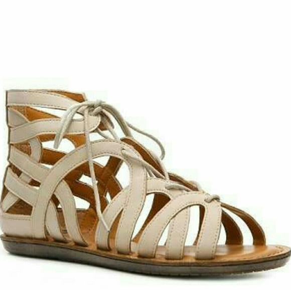 5dcbc5293a7 Crown Vintage Nude Gladiator Sandal
