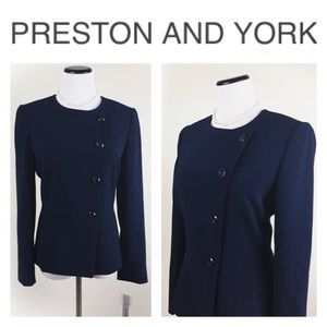 Preston & York Jackets & Blazers - PRESTON AND YORK NAVY BUTTON BLAZER SZ8