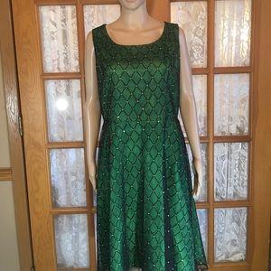 Coldwater Creek Dresses & Skirts - Diamond Party Dress Black Netting Over Dress NWT