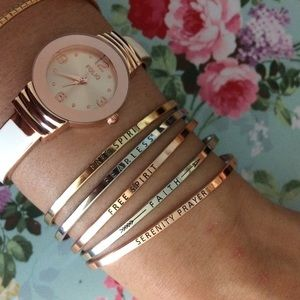 Jewelry - get inspired with boho mantra bangles
