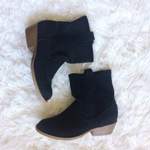 Rampage Shoes - RAMPAGE black fauxsuede western ankle boot