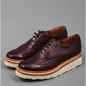 Grenson Shoes - Grenson Emily brogues burgundy