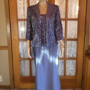 Alex Evenings Dresses & Skirts - 2 Piece Shimmery Fabric With Sequins Lavender 12