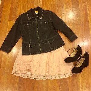 Ruby Rd. Denim - 🌸1 Hour Sale 🌸Black Denim Jacket