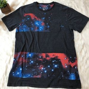 on the byas Tops - Vintage style galaxy t-shirt