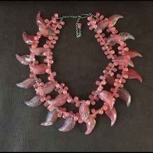 Jewelry - ‼️Collectable‼️Rose quartz Rare statement necklace