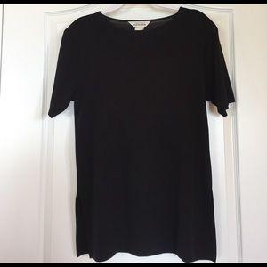 Misook Tops - Exclusively Misook Black Short Sleeve Tunic