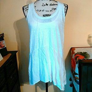 Tops - Sheer White Sleeveless Tunic
