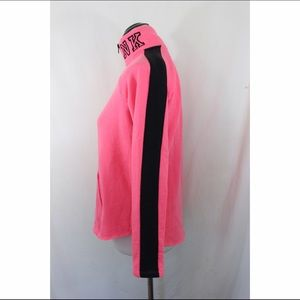 PINK Victoria's Secret Sweaters - PINK half zip neon pink curved raw hem sweater