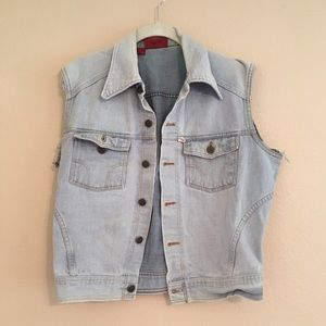Sale🌷Vintage oversized denim vest