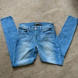 Express Mia mid rise legging jeans
