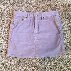Gap Jeans corduroy lavender mini skirt