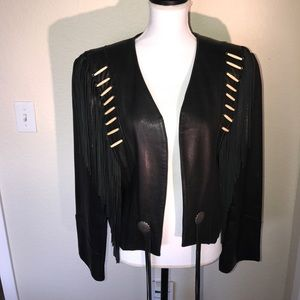 Pioneer Wear Jackets & Blazers - Fine Leather Jacket w/ silver buttons and fringe