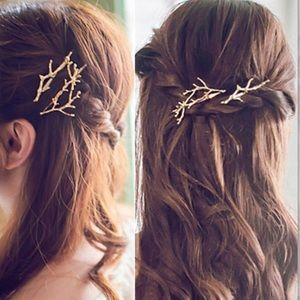 Accessories - Gold twig hair pins / accessories (two)