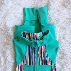 Ivivva Other - IVIVVA mint green+multicolored long sleeve jacket